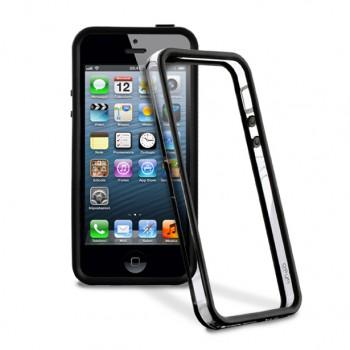 Бампер iphone 5 и 5s (half black)