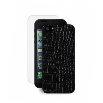 Кожаная накладка для iPhone 5 Deppa (black)