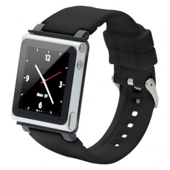 Чехол - браслет для iPod iWatchz  nano clip system (black)
