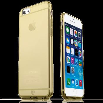 Тонкий прочный силиконовый чехол Hoco iPhone 6 (айфон) Gold